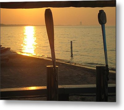 Lake Erie On Tap Metal Print by Toni Jackson