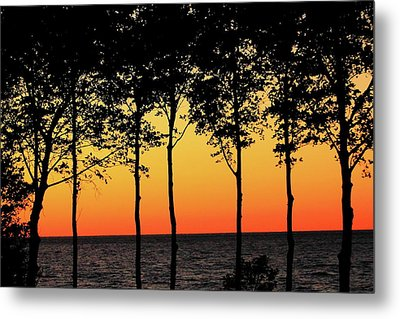 Metal Print featuring the photograph Lake Erie Silhouettes by Bruce Patrick Smith