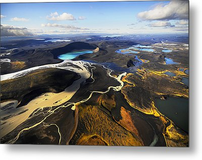 Lake In An Old Volcanic Crater Or Metal Print by Mattias Klum