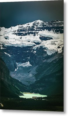Metal Print featuring the photograph Lake Louise At Distance by William Lee