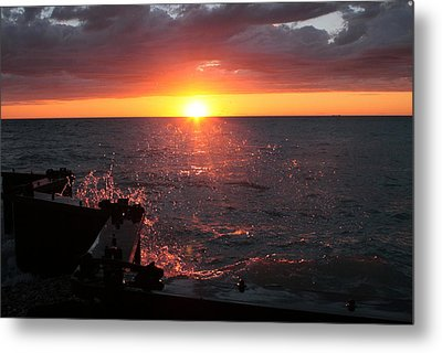 Metal Print featuring the photograph Lake Michigan Sunset by Bruce Patrick Smith