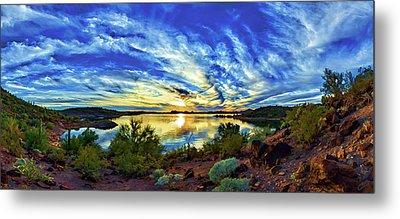 Lake Pleasant Sunset 3 Metal Print by ABeautifulSky Photography