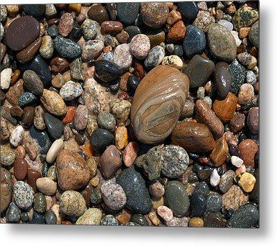 Lake Superior Stones Metal Print by Don Newsom
