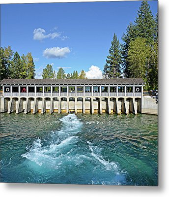 Lake Tahoe Dam Metal Print