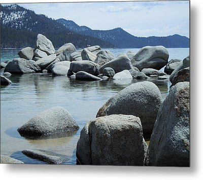 Metal Print featuring the photograph Lake Tahoe Rocks by Dan Whittemore