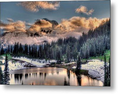 Lake Tipsoo, Mt Rainier Metal Print by Greg Sigrist