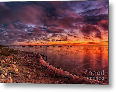 Lakeside Dawn Metal Print