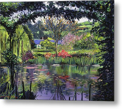 Lakeside Giverny Metal Print by David Lloyd Glover