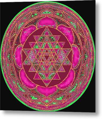 Lakshmi Yantra Mandala Metal Print by Svahha Devi