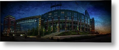 Metal Print featuring the photograph Lambeau Field At Dusk by Joel Witmeyer