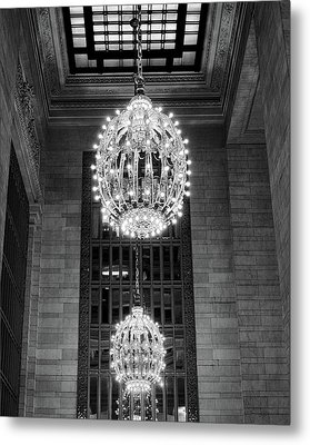 Metal Print featuring the photograph Lamps In Grand Central Station by Lora Lee Chapman