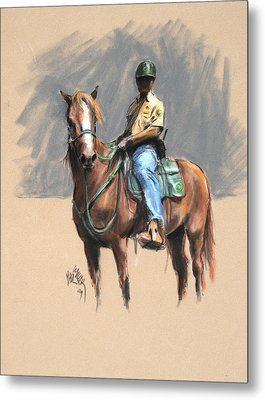 Lance With National Park Service Volunteer Aboard Metal Print by Paul Miller