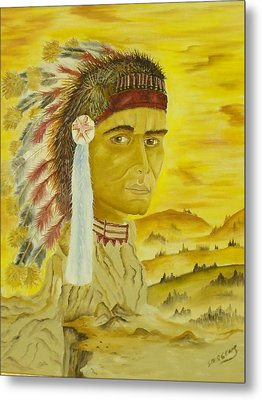 Land Warrior Metal Print by Ron Sargent