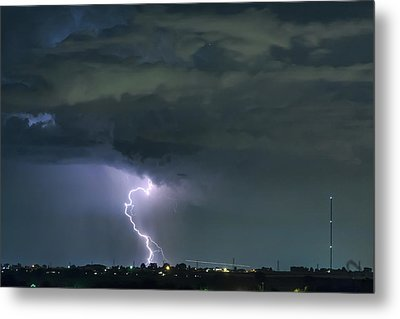 Metal Print featuring the photograph Landing In A Storm by James BO Insogna