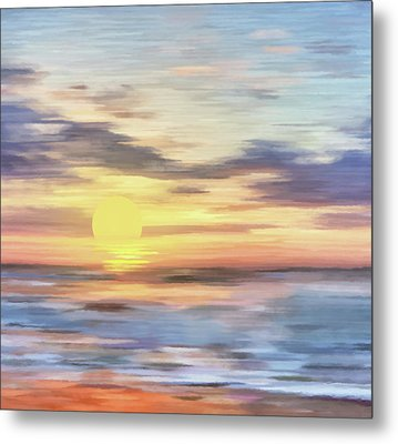 Lands Where Corals Lie Abstract Realism Metal Print