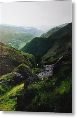 Landscape With Aspect Towards The North Wales Coast. Metal Print by Harry Robertson