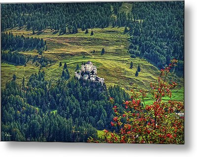Metal Print featuring the photograph Landscape With Castle by Hanny Heim