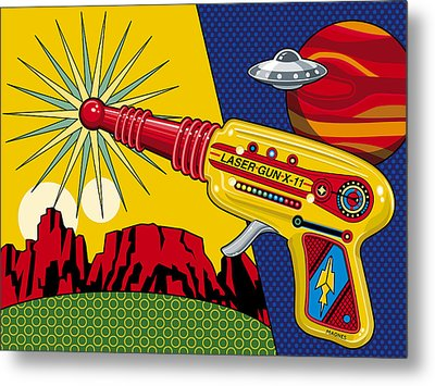 Laser Gun Metal Print by Ron Magnes