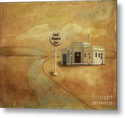 Metal Print featuring the digital art Last Chance Gas by Lois Bryan