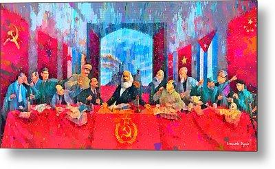 Last Communist Supper 10 Colorful - Pa Metal Print by Leonardo Digenio