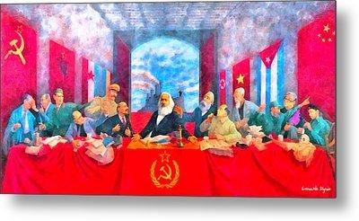 Last Communist Supper 20 - Da Metal Print