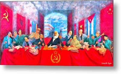 Last Communist Supper 20 - Pa Metal Print