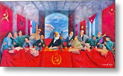 Last Communist Supper 30 - Da Metal Print by Leonardo Digenio