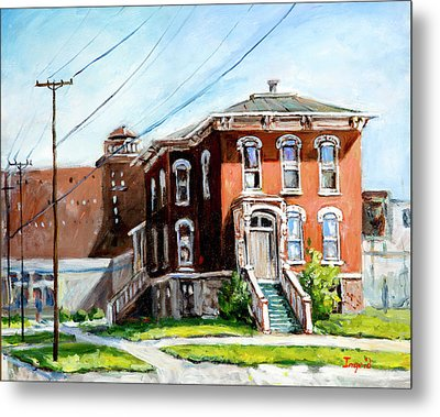 Last House Standing Metal Print by Alexandra Maria Ethlyn Cheshire