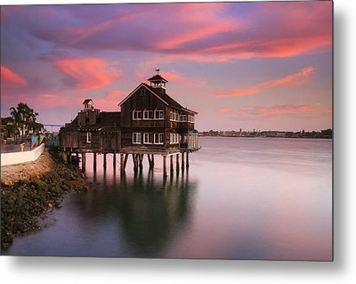 Last Light Pier Cafe Metal Print