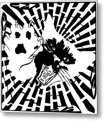 Last Maze The Mouse Sees Metal Print by Yonatan Frimer Maze Artist