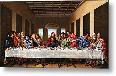 Last Supper Metal Print by Michael Nowak