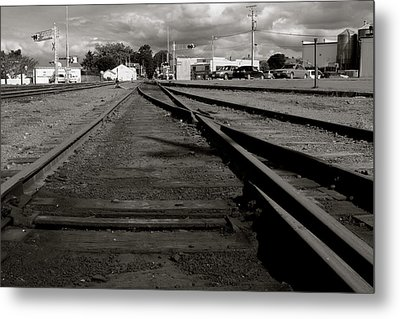 Last Train Track Out Metal Print