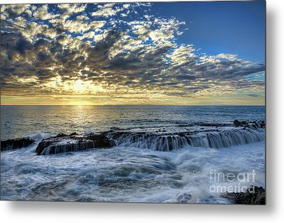 Metal Print featuring the photograph Late Afternoon In Laguna Beach by Eddie Yerkish