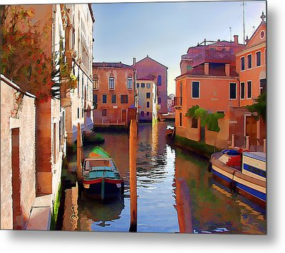 Late Afternoon In Venice Metal Print by Elaine Plesser