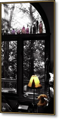 Late Afternoon Light Across Arch Window Metal Print