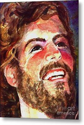 Laughing Jesus Metal Print by Reveille Kennedy