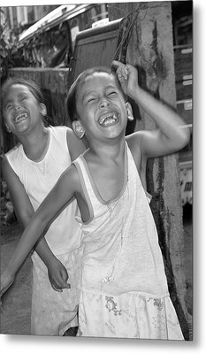 Laughter Is Good Metal Print