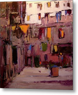 Laundry Day In Venice Metal Print