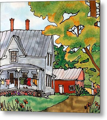Laundry Day Metal Print by Linda Marcille