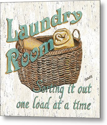 Laundry Room Sorting It Out Metal Print