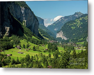Metal Print featuring the photograph Lauterbrunnen Mountain Valley - Swiss Alps - Switzerland by Gary Whitton