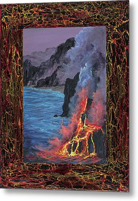Metal Print featuring the painting Lava Flow by Darice Machel McGuire