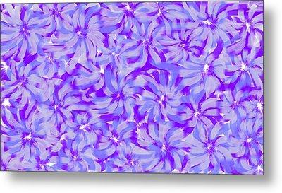 Lavender Blue 1 Metal Print by Linda Velasquez