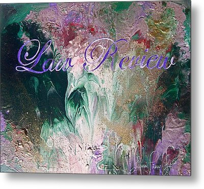 Law Review Metal Print by Laura Pierre-Louis