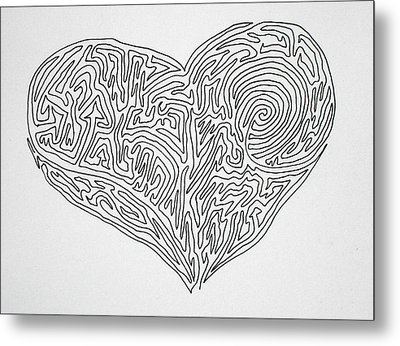 Laying Your Heart On A Line  Metal Print by Vicki  Housel