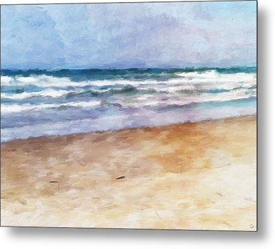 Lazy Summer Day At The Beach Metal Print