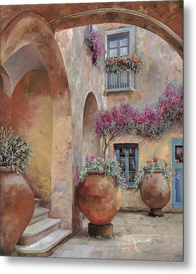 Le Arcate In Cortile Metal Print