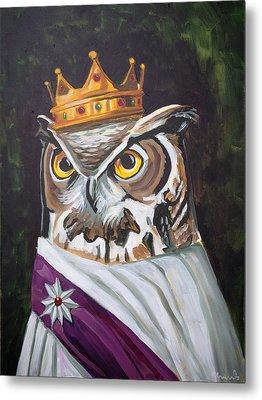 Le Royal Owl Metal Print by Nathan Rhoads
