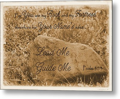 Lead Me Guide Me Psalm 31 Metal Print by Robyn Stacey