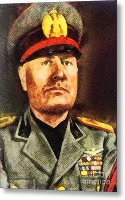 Leaders Of Wwii - Benito Mussolini Metal Print